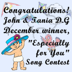 "Poppermost ""Sweet Sofia Marie"" Congratulations! John & Tania D.G December winner, ""Especially for You"" Song Contest"